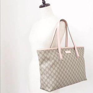 🌹Auth Gucci Supreme GG Pink Trim Monogram Purse